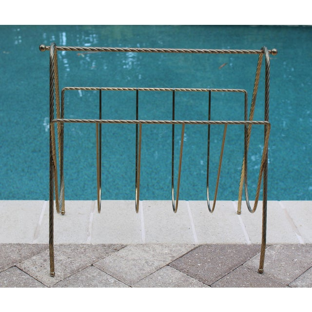 Mid-Century Modern Mid-Century Magazine Rack For Sale - Image 3 of 5