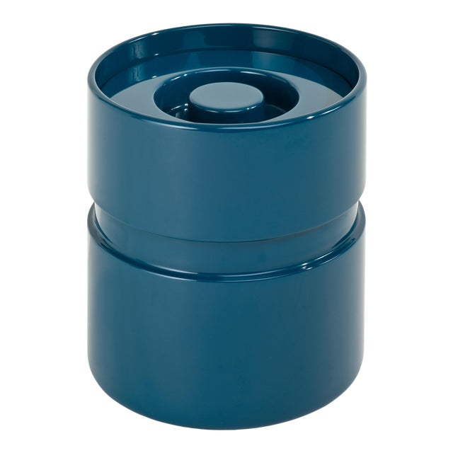 Ice Bucket in Marine Blue - Rita Konig for The Lacquer Company For Sale