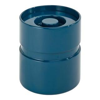 Rita Konig Collection Ice Bucket in Marine Blue For Sale