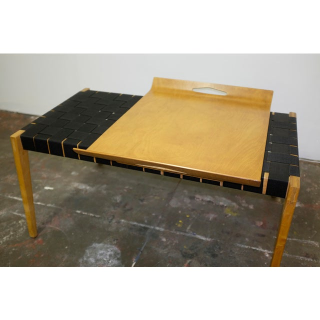 """Early Abel Sorenson, bench and tray for Knoll. Tray dimensions: 24.5"""" W x 19"""" D x 3"""" H. Circa 1940's."""