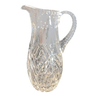 Traditional Cut Glass 1960s Vintage Lennox Crystal Water Pitcher / Vase / Water Picture For Sale