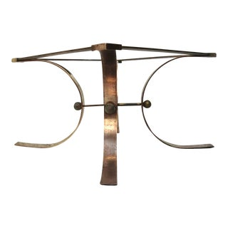 Sculptural Side Table in Brass For Sale