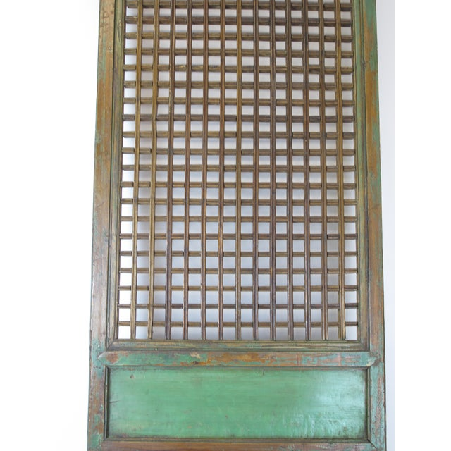 Wood 1900s Antique Chinese Lattice Panels- Set of 6 For Sale - Image 7 of 9
