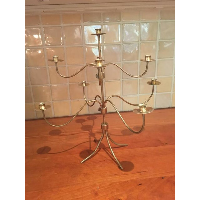 Josef Frank 9-Arm Brass Candelabra - Image 3 of 6