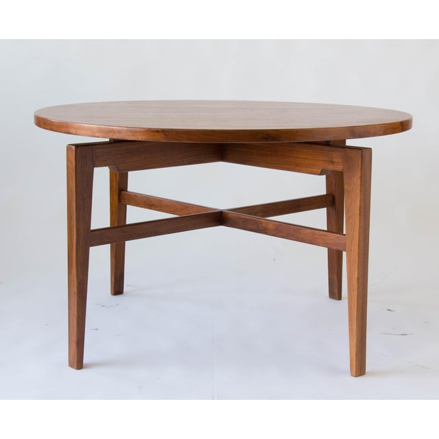 Danish Modern Jens Risom Lazy Susan Game Table For Sale - Image 3 of 6