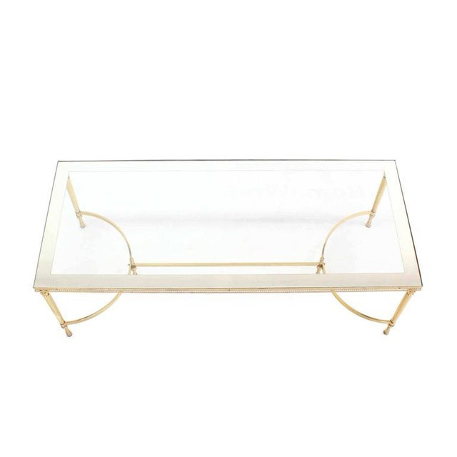 Very nice decorative high quality and excellent condition brass coffee table.