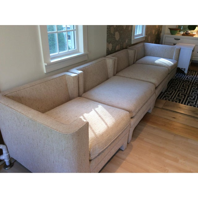 Milo Baughman Style Sectional Couch - Image 3 of 11