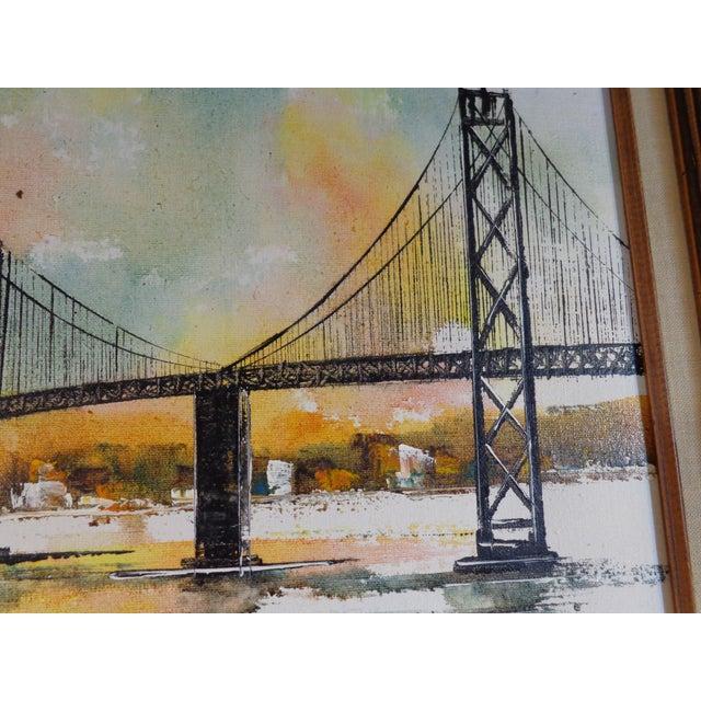 Impressionist Bay Bridge by Adriano Marchello For Sale - Image 9 of 11