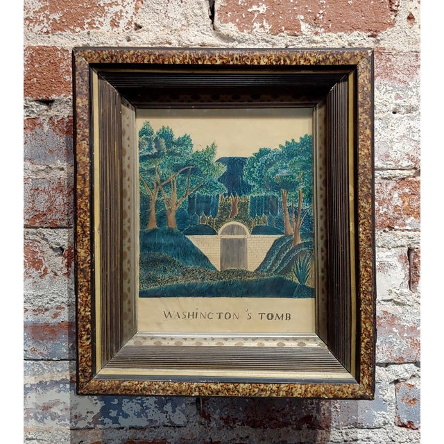 Watercolor Early 19th Century Painting of George Washington's Tomb For Sale - Image 7 of 7