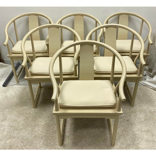 Wood Ming Style Dining Chairs by Baker Furniture - Set of 6 For Sale - Image 7 of 7