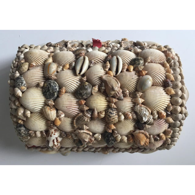 Vintage Large Shell Covered Jewelry Box - Image 3 of 7