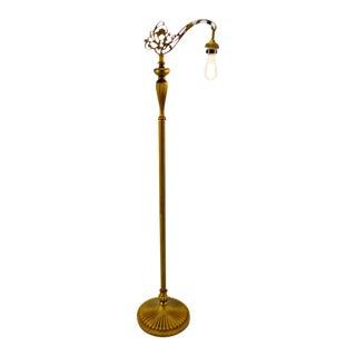 Vintage Art Deco Style Metal Bridge Arm Floor Lamp For Sale