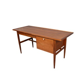 Drexel Declaration Kipp Stewart Mid-Century Modern Walnut Desk For Sale
