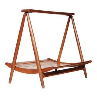 Teak Wood Magazine Tray Holder For Sale