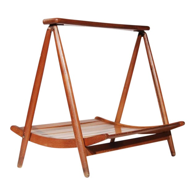 Teak Wood Magazine Tray Holder - Image 1 of 6