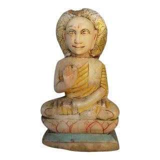 19th century Marble Cared Buddha Statue