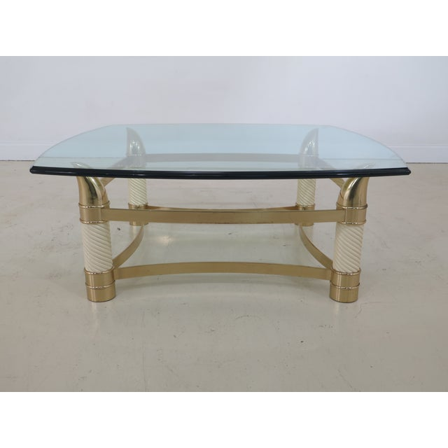 Modern Design Brass & Glass Coffee Table For Sale - Image 9 of 9