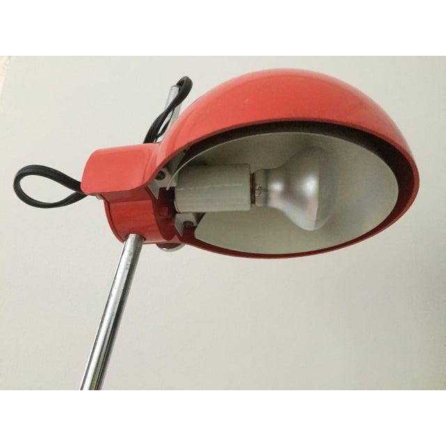 Mid-Century Modern Groovy Red Lightolier Desk Lamp, C. 1969, Mid-Century Modern, Pop Inspired For Sale - Image 3 of 7