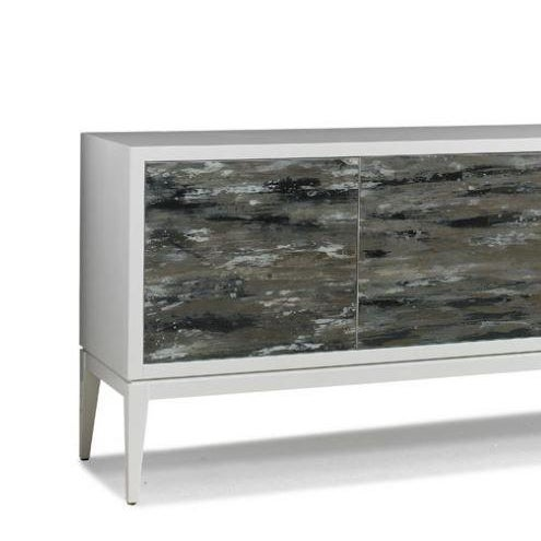 Abstract Claude 4 Door Cabinet from Kenneth Ludwig Chicago For Sale - Image 3 of 6