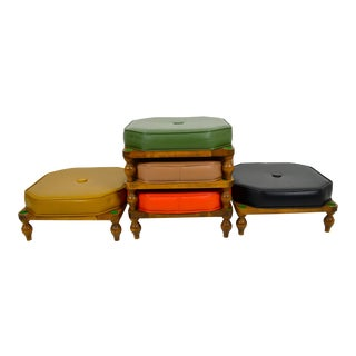 1960s Vintage Fontaine Bros Inc Stacking Stools- Set of 5 For Sale