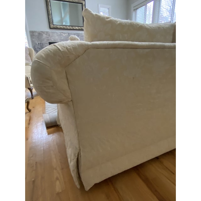 1980s Traditional Rolled Arm Sofa and Loveseat - A Pair For Sale In New York - Image 6 of 13