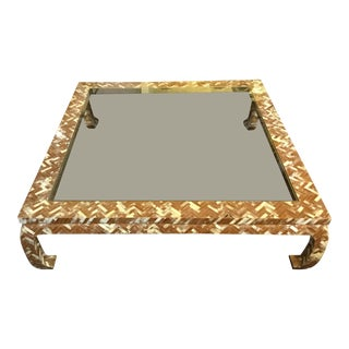 Bone Herringbone Design Coffee Table For Sale