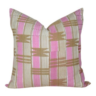 African Aso Oke Geometric Pillow Cover For Sale