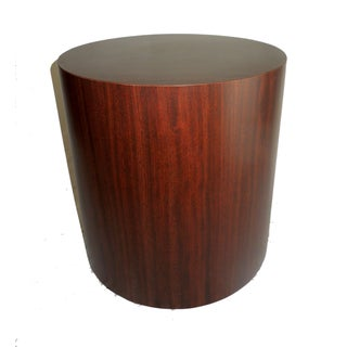 Mid-Century Modern Drum Cylinder Side Table