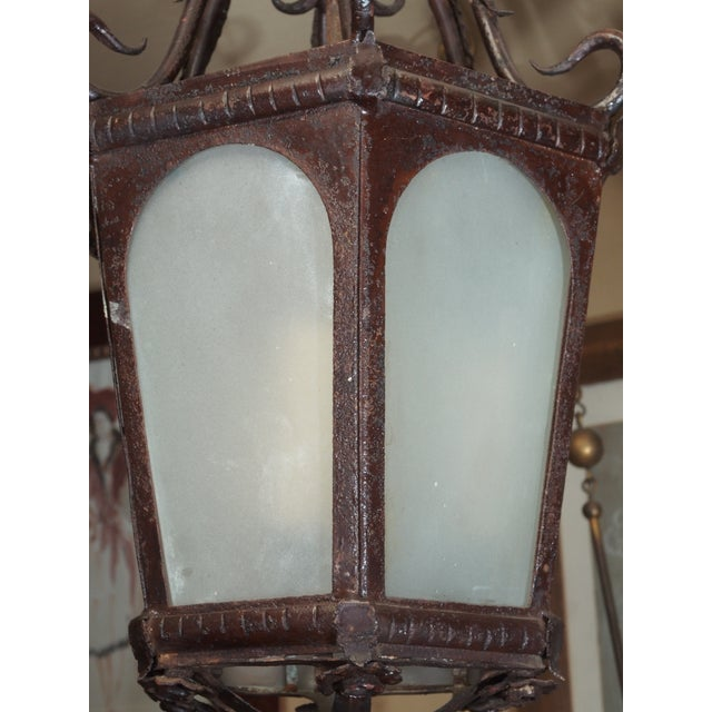 1950s French Iron Lantern For Sale - Image 5 of 7