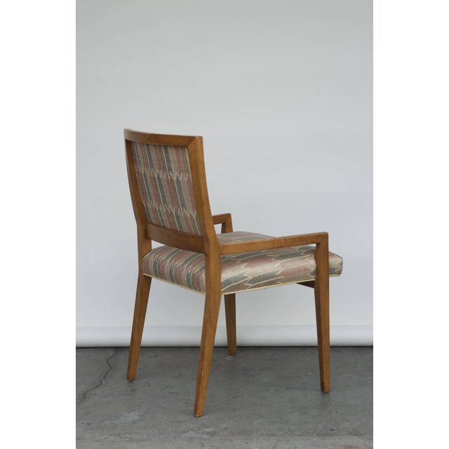 Brown Set of Six Elegant Mid-Century Modern Armchairs and Chairs For Sale - Image 8 of 9