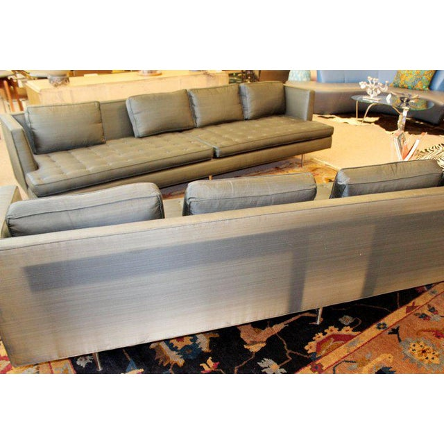 Mid 20th Century Mid-Century Modern Style Pair Wormley for Dunbar Chamberlain Model 4907a Sofas For Sale - Image 5 of 11