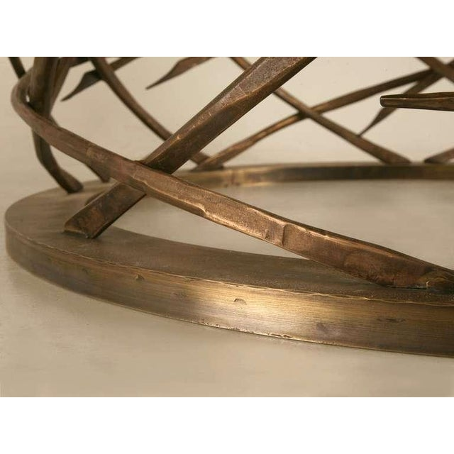 Gold Custom-Made Woven Solid Bronze Table Base For Sale - Image 8 of 11