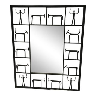 Frederick Weinberg Midcentury Modern Mirror For Sale