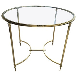 Oversized Brass Directoire Style Gueridon Table For Sale