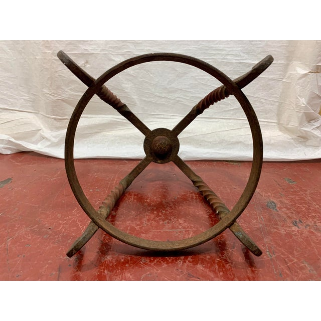Metal French Wrought Iron Butcher's Rack For Sale - Image 7 of 8