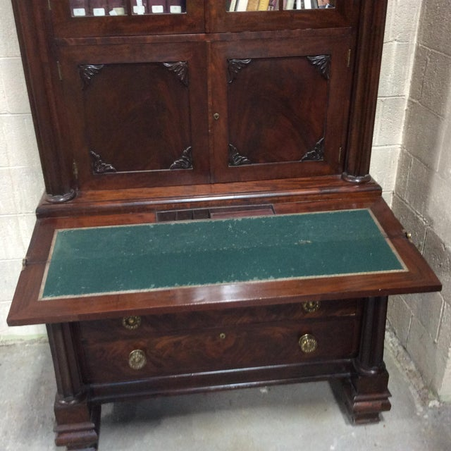 Early 19th Century C1830 Mahogany Classical Secretary Desk For Sale - Image 5 of 9