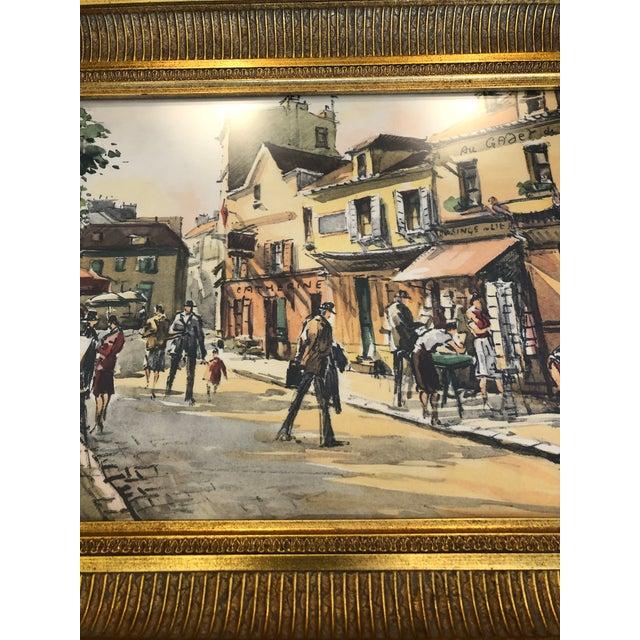 Wood Scenes of Paris in Giltwood Frames -Set of 4 For Sale - Image 7 of 9