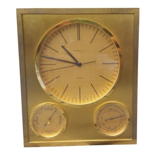 Mid-Century Modern Tiffany & Company Centerpiece Clock For Sale