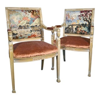 1940s Vintage Empire Chairs - a Pair For Sale