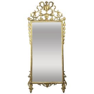 Italian Neoclassic Giltwood Mirror For Sale