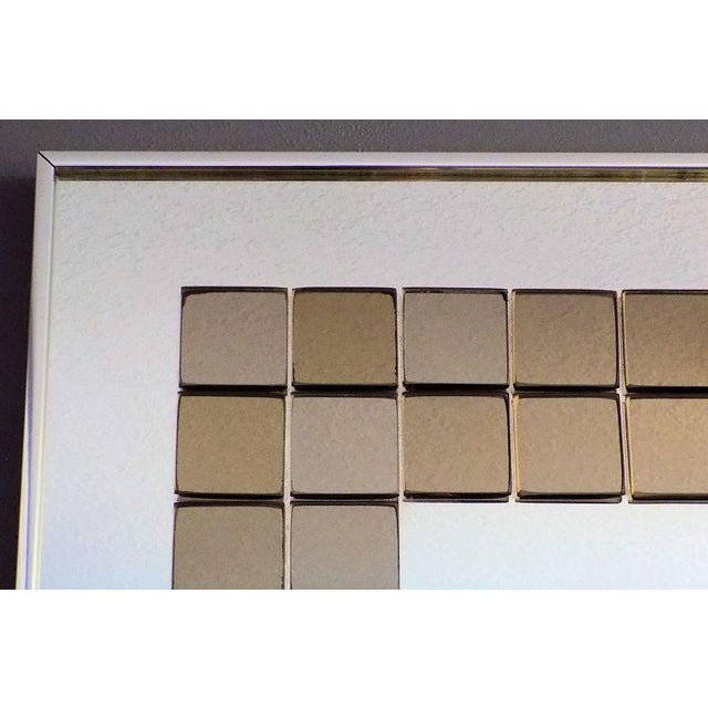 1970s Tiled Hal Bienenfeld Pop Op Art Wall Mirror For Sale - Image 5 of 13