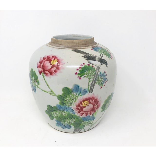 Early 19th Century Early 19th Century Antique Mud-Stomped Chinoiserie Ginger Jar For Sale - Image 5 of 8