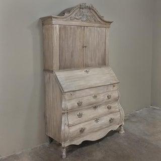 18th Century Dutch Tambour Stripped Oak Secretary ~ Bookcase Preview