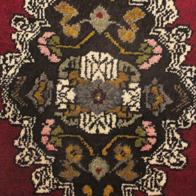Turkish Floral Medallion Yastik Rug - 1′9″ × 2′10″ - Image 2 of 2
