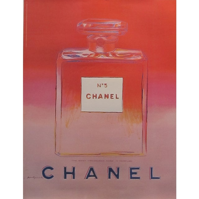Pink Andy Warhol 1997 Chanel No.5 Poster - Image 1 of 3