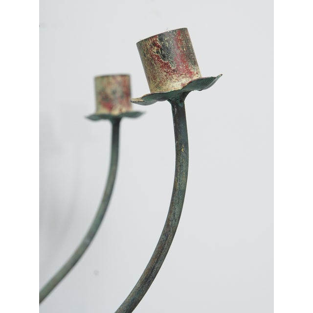 Mid 20th Century Polychrome Wall Lights with Springy Flowers For Sale - Image 5 of 9
