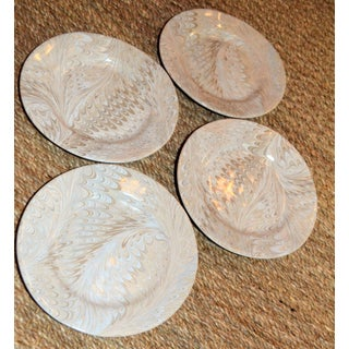 Cappuchino Firenze Marbleized Ceramic Cocktail Plates - Set of 4 Preview