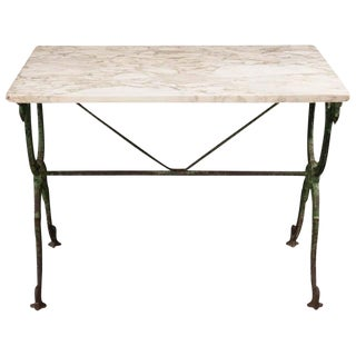 French 19th Century Marble-Top Garden Table For Sale