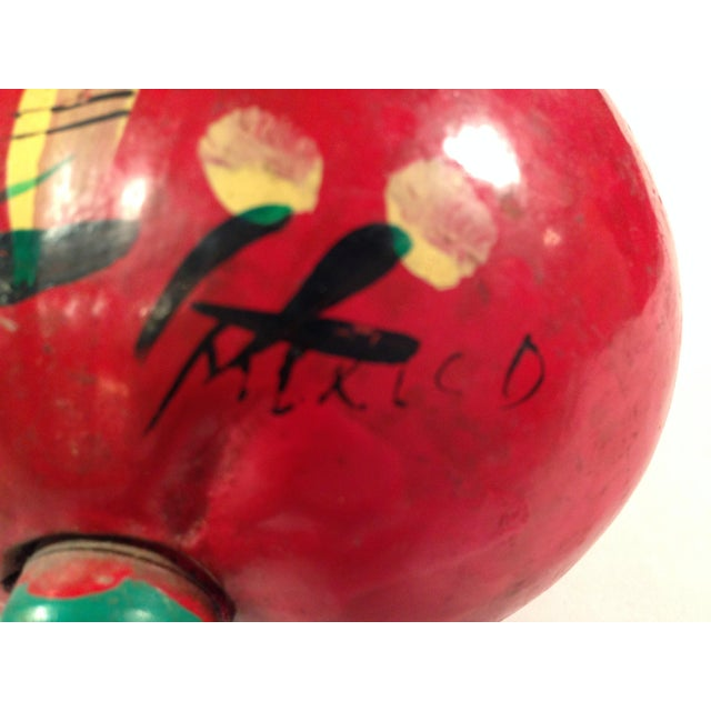 Hand-Painted Red Maracas - A Pair - Image 4 of 4