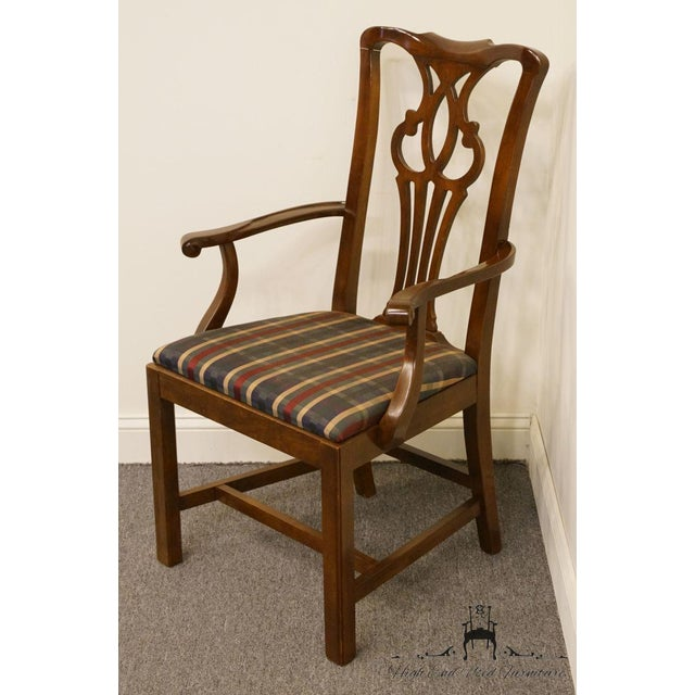 Drexel Late 20th Century Drexel Heritage Chippendale Style Dining Chair For Sale - Image 4 of 13